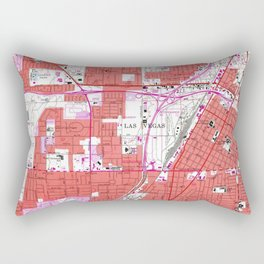 Vintage Map of Las Vegas Nevada (1967) Rectangular Pillow