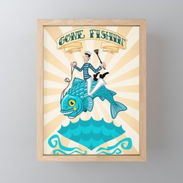 Gone Fishin' Framed Mini Art Print