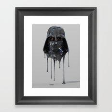 Darth Vader Melting Framed Art Print