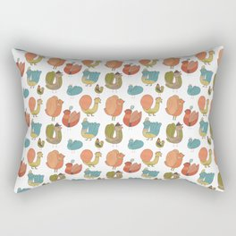 Pattern Projects #7 / Bird Parade Rectangular Pillow