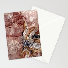 Human Owl Stationery Cards