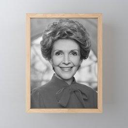 Nancy Reagan Official Portrait Framed Mini Art Print