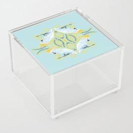Blue Cockatoos Acrylic Box