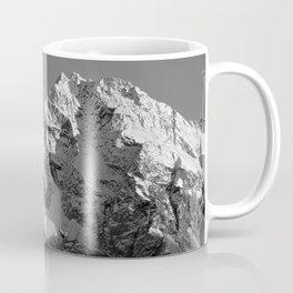 Moon Over Pioneer Peak B&W Coffee Mug