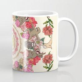Sloth Yoga Floral Medallion Coffee Mug