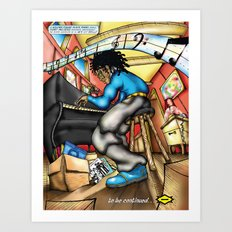 C2 & Posse piano player Art Print
