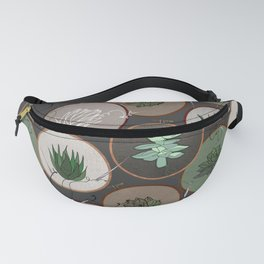 Succulent Embroidery Hoops Fanny Pack