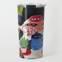 Suspicious mugs Travel Mug