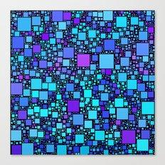 Post It Blue Canvas Print