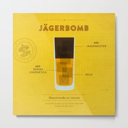 Jagerbomb - Cocktail by Juan Metal Print