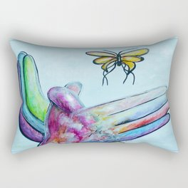 American Sign Language BUTTERFLY Rectangular Pillow