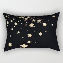 Golden Stars 3 Rectangular Pillow