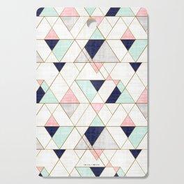 Mod Triangles - Navy Blush Mint Cutting Board