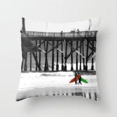 Surfing lifestyle    Throw Pillow