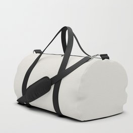 Sherwin Williams Trending Colors of 2019 Origami White (Off White) SW 7636 Solid Color Duffle Bag