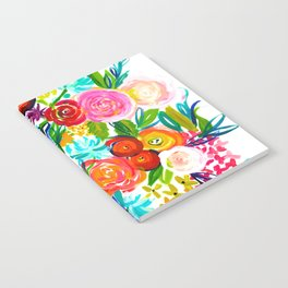 Bright Colorful Floral painting Notebook
