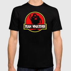 Adventure Time: Yeah, whatever: Jurassic LSP LARGE Mens Fitted Tee Black