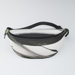 Brushstroke 9: a bold, minimal, black and white abstract piece Fanny Pack