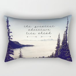 the greatest adventure- mountains Rectangular Pillow