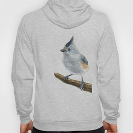 Titmouse bird watercolor Hoody