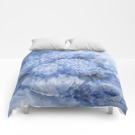 Hydrangeas in Blue Comforters