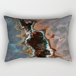 Earth treasures - Blue and orange agate Rectangular Pillow