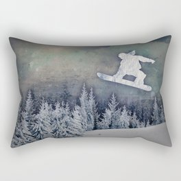 The Snowboarder Rectangular Pillow