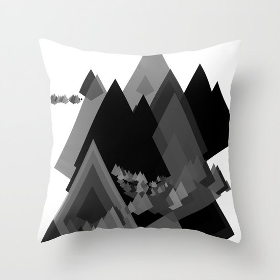 Mountains Inside Throw Pillow