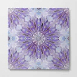 light winter mandala pattern Metal Print