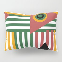 African Summer Stripes and Geometrical Shapes Pillow Sham