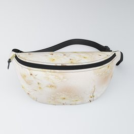 Lost in Antique White Flowers Fanny Pack