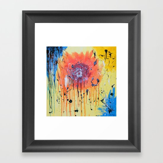 Bleeding poppy Framed Art Print