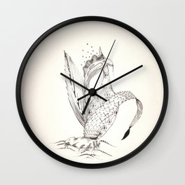 'Embroidered' Iris Wall Clock