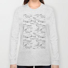 The deep Sea- Whale-Shark,Fish- Ocean Animals Long Sleeve T-shirt