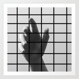 Caged Hand 1 Art Print