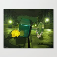 Green Glass In Autumn Canvas Print