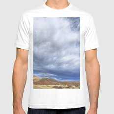 Red Mountain Open Space Mens Fitted Tee MEDIUM White