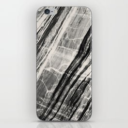 Abstract Marble - Black & Cream iPhone Skin