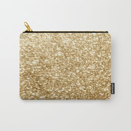 Gold glitter Carry-All Pouch