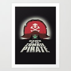 Dawn of the Zombie Pirate Art Print