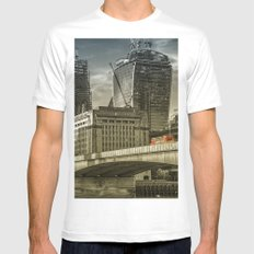 London North Bank Mens Fitted Tee White MEDIUM
