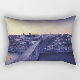 Porto across the bridge. Rectangular Pillow