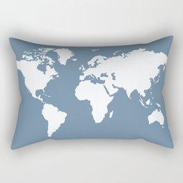 French Gray Elegant World Rectangular Pillow