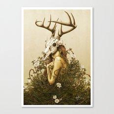 Deer secret. Canvas Print