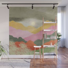 Colorful mountains Wall Mural