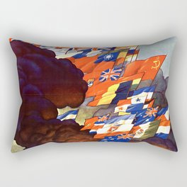Vintage United Nations Poster Rectangular Pillow