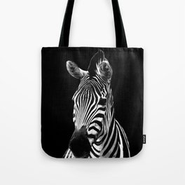 Zebra Black Tote Bag