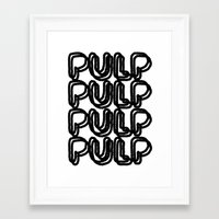pulp Framed Art Prints featuring Pulp  by Katy Roark