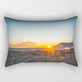The bay of Montecarlo Monaco at sunset from Cap Martin in a sunny winter day Rectangular Pillow