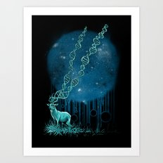 DNA Deer Art Print